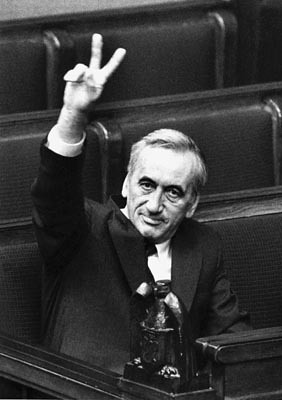 I saw this man in person in October 1989 in the Collegium Maius in Krakow. He was standing three feet away from me, and I dont think Ive ever seen a more exhausted and concerned and respect-worthy person in my life.