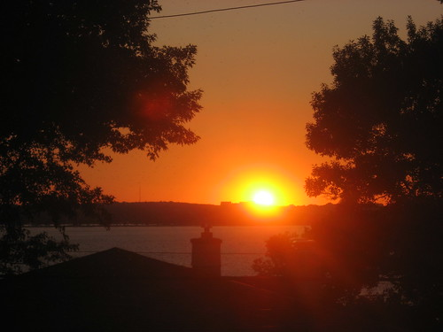 Sunset from our house