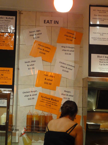 Dean's Diner: Eat in menu