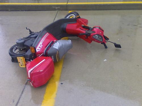 storm vs scooter. storm won.
