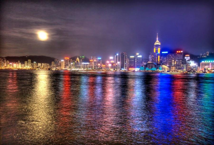 Moon Over Hong Kong