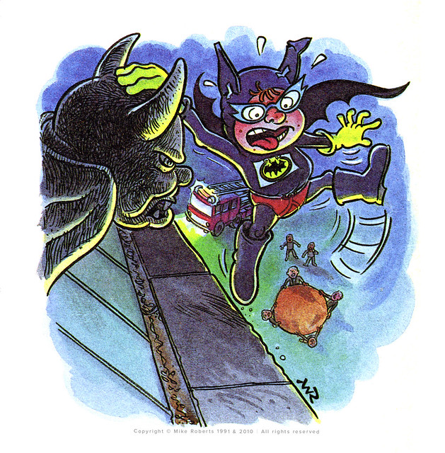 Roger Frames - Batfink and gargoyle - printed proof