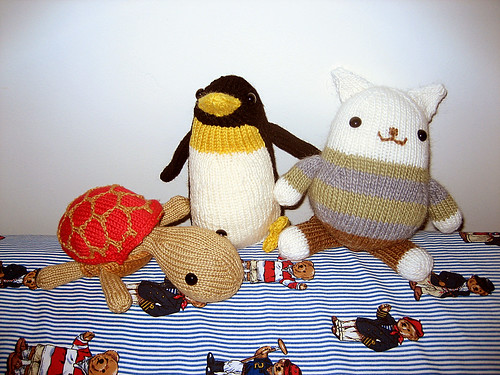 knit trio