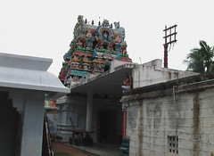 Rajagopuram from inside the temple