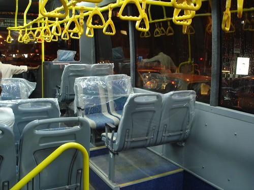 the spanking new chennai mtc volvo bus