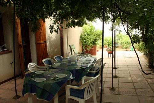 A summer terrace in Sicily