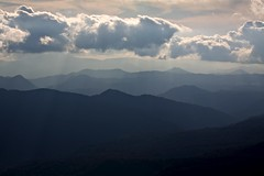 Sunlight on the Ou Mountains