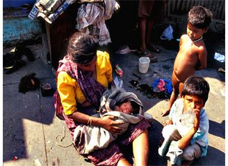 Woman, children, poverty in India