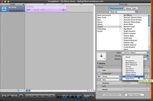 iLife GarageBand '06 - creating a stereo effect (A1-2)
