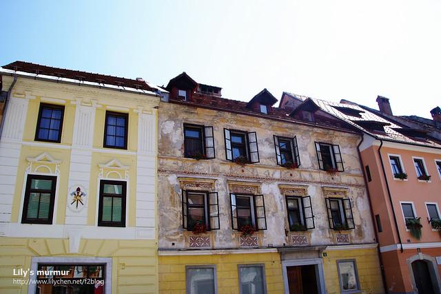 Škofja Loka不大,大概停留一個小時多就看得差不多了。古建築真的別有風味。