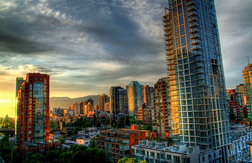 Vancouver's West End at Sunset by Duane Storey