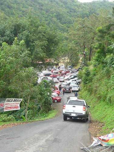 The very steep entrance to Vaca Brava