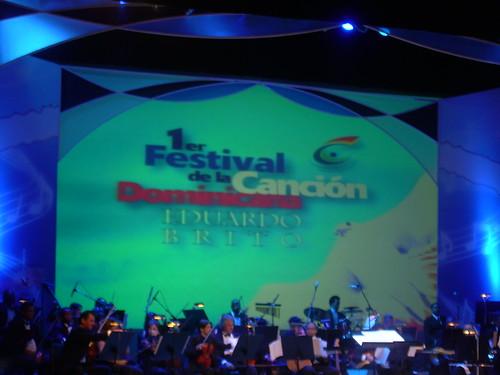 Una captura con mi foto de la primera noche del Festival