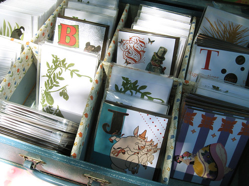 Vintage-esque cards by Laura.