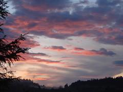 coucher de soleil brumeux