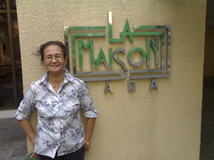 My mom at my place
