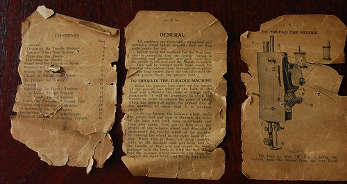 Remains of the handbook