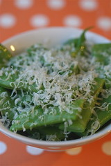 Flat Beans with Butter and parmesan