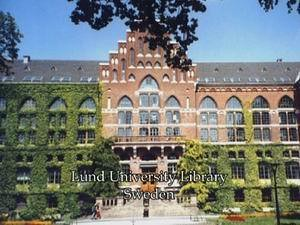Lund University, Sweden during King of Siam fact finding mission, 2003.