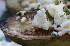 Pan-Roasted Squash with Lemon, Feta and Mint (close)