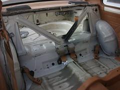 Rear seat area cleaned - 1981 Datsun 210