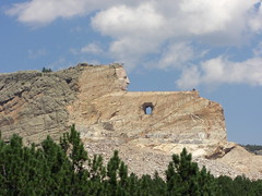 took 50 years to finish the face. other 90% still being worked on.. crazy horse monument near custer, wy