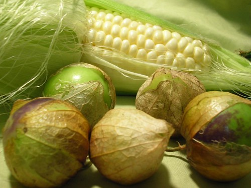 Tomatillos and Sweet Corn