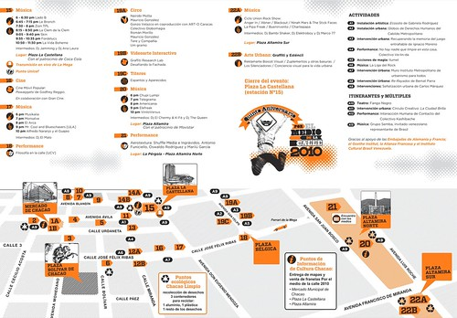Mapa por le medio de la calle
