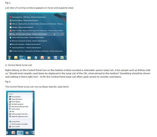 windows7 changes from beta to rc