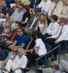 Random audience members at US Open