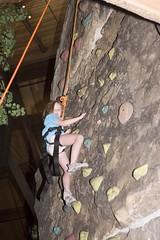 Ellie rock climbing