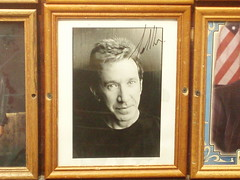 Tim Allen on the wall of the Carnegie Deli