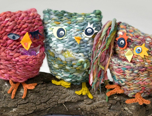 OMG - condom critters!  Look!  They look like owls - I love them!!  :D