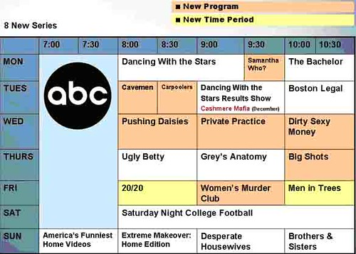 ABC Fall TV Show Schedule