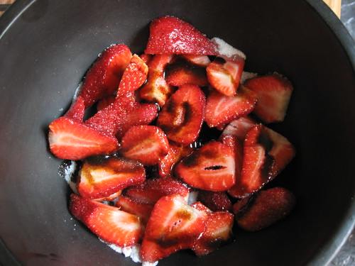 strawberries with balsamic glaze