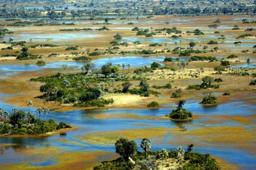 NXABEGA FROM THE AIR....WE WERE LITERALLY DROPPED INTO A SWAMP