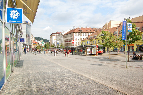 This is the centre of Andel. Very convenient here, with a supermarket, subway station and light rail tram station.