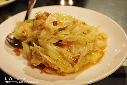 豐華小館XO醬高麗菜。