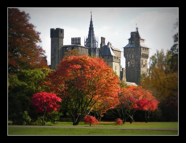 Cardiff Castle in Autumn