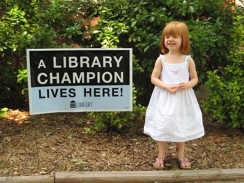 Levynn loves Louisville Free Public Library!