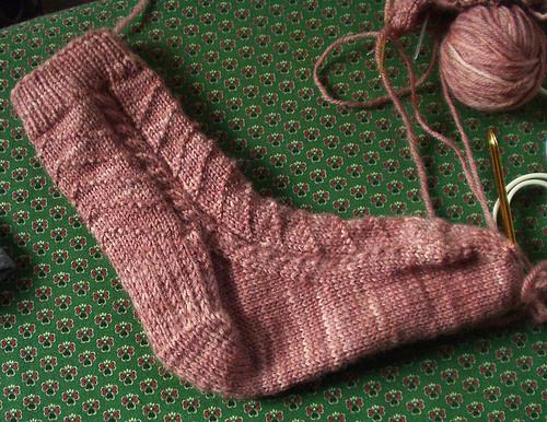 cable/chevron sock