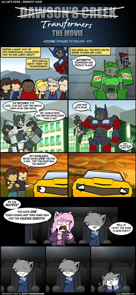 VG Cats take on the Transformer's movie