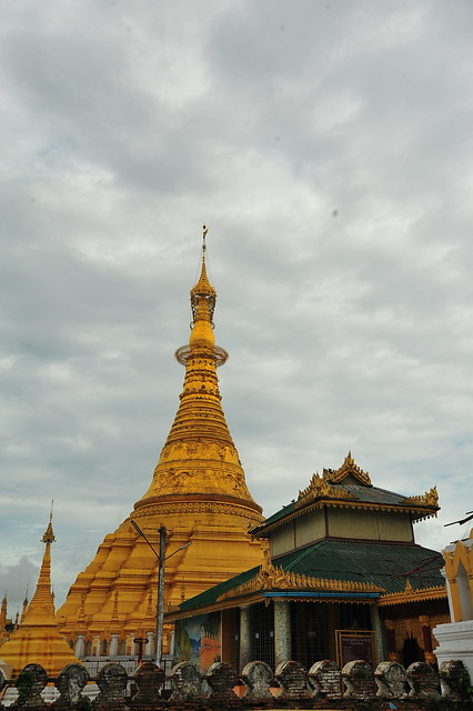 Myanmar is known for its glorious golden stupas...