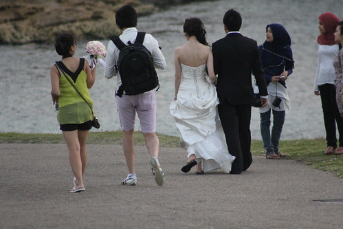 Bride in thongs