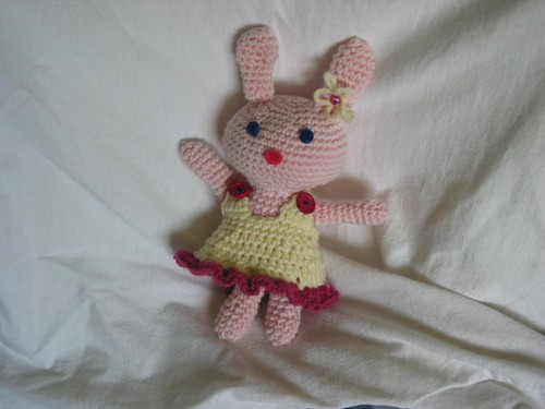 SO cute!  Bunny in a Dress!