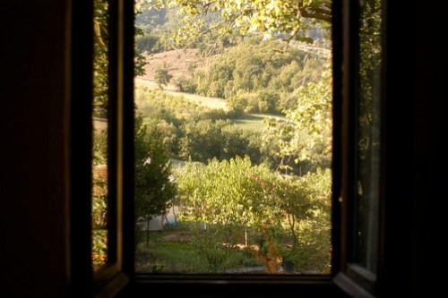 the view out the window at Brigolante