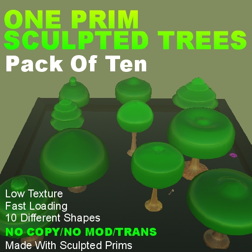 1 Prim Sculpted Trees - NoCopy