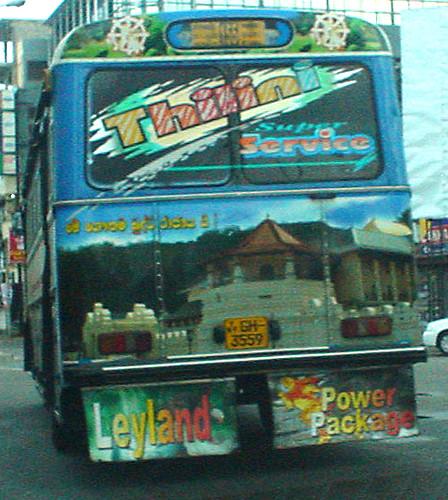 Bus art Colombo Sri Lanka