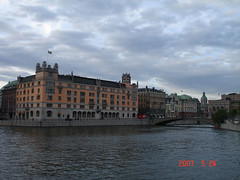 Gothenburg, city center, sightseeing during our boat tour