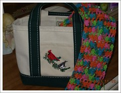 scarf and tote